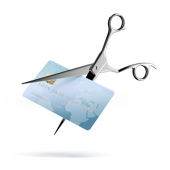 Scissors Cutting up a Credit Card